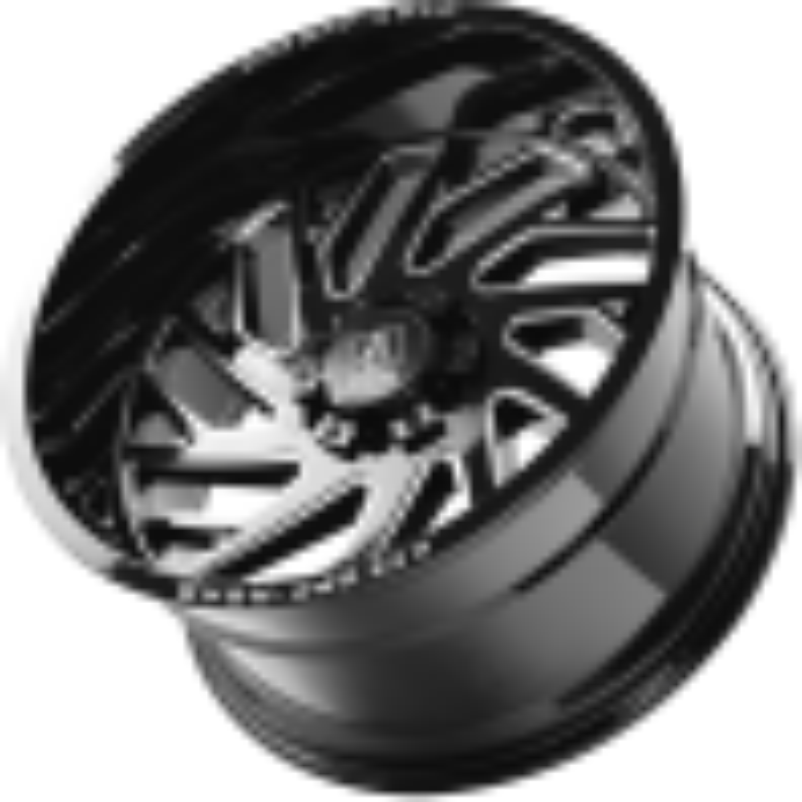 AXE Wheels Gloss Black - Milled Edge