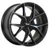 DAI Wheels Tuning Gloss Black - Machined Face - Smoked Clear