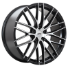 DAI Wheels Tuning Gloss Black - Machined Face