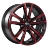 DAI Wheels Tuning Gloss Black - Machined Face - Red Face