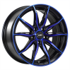 DAI Wheels Tuning Gloss Black - Machined Face - Blue Face