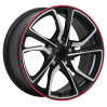 ART Satin Black - Machined Face - Red Line